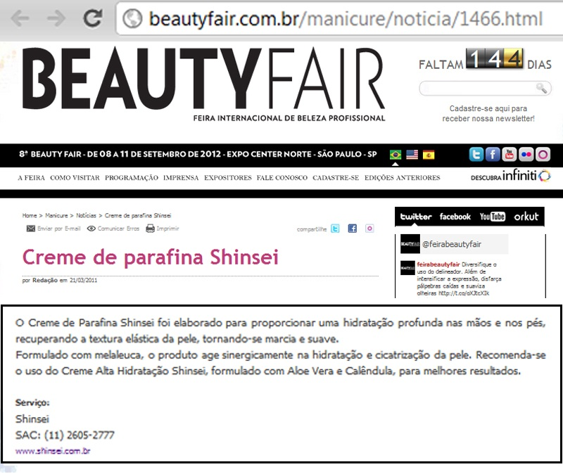 Creme de Parafina Site Beauty Fair
