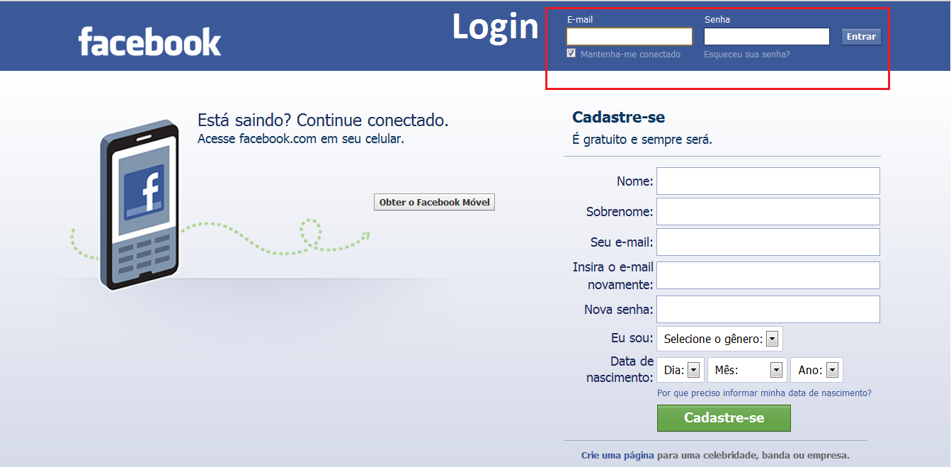 Facebook Login Png
